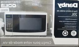 Danby 0.7 Cu. Ft. 700W Countertop Microwave Oven in White