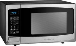 Insignia™ - 0.9 Cu. Ft. Compact Microwave - Stainless stee