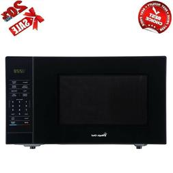 1.1 cu. ft. Countertop Microwave in Black with Gray Cavity