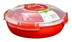 Sistema 1.3L Large Round Dish Plate Casserole Stew Curry Mic