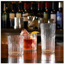12-Piece Manhattan Tempered Bar Glasses Set Freezer Microwav