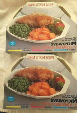 2 sets- Anchor Hocking  Microwave Freeze Heat and Serve Plat