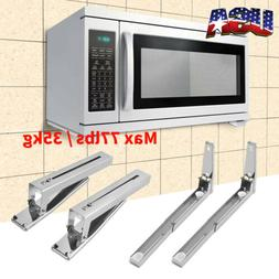 Microwave Oven Stretch Wall Mounts Telescopic Bracket Stainl