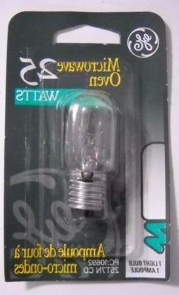 25 WATT microwave oven 25w GE APPLIANCE LIGHT BULB 25T7 clea