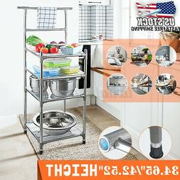 3/4 Tier Microwave Oven Stand Storage Holder Kitchen Rack Ca