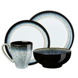 Denby 4-Piece Dinnerware Set Glazed Ceramic Microwave-Safe