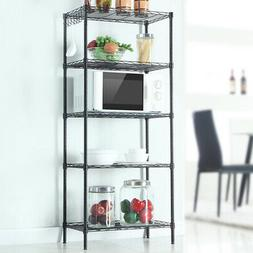 4-Tier Kitchen Microwave Oven Stand Storage Baker's Metal Ra