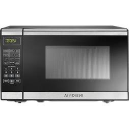 Insignia™ - 0.7 Cu. Ft. Compact Microwave - Stainless