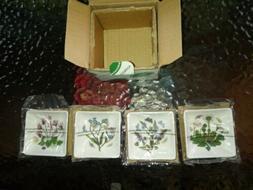 Portmeirion Botanic Garden 3-Inch Square Mini Dishes, Set of