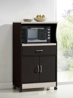 Kitchen Microwave Cart Storage Cabinet Organize Dining Bar P