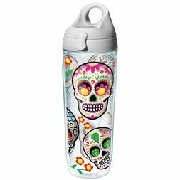 Tervis Colorful Sugar Skull Individual Wrap Water Bottle wit