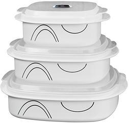 Corelle Coordinates Simple Lines 6-Piece Microwave Cookware