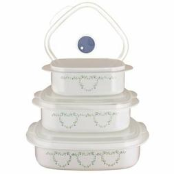 Corelle Country Cottage 6-piece microwave cookware steamer s