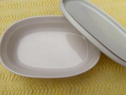 Corningware F15-B French White Oval 15oz Microwave Dish w Ma