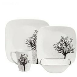 Corelle Dinnerware Plate Bowl Cup Set Timber Shadow Design M