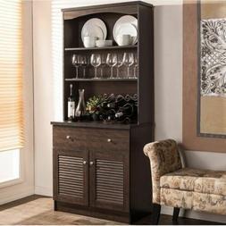 Espresso Buffet Microwave Kitchen Storage Cabinet Cupboard C