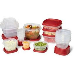 Rubbermaid Food Storage Containers Set 40 Piece Red Lids Pla