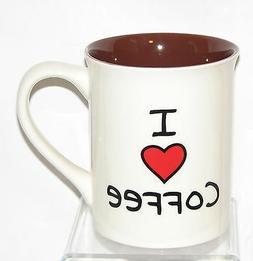 """I LOVE  COFFEE"" MUG ~ ENESCO ~ 16 oz CERAMIC - MICRO-DISHWA"