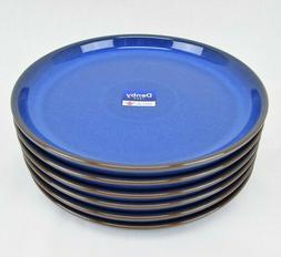 Denby Imperial Blue Med 10 in Dinner Plates Freeze Microwave