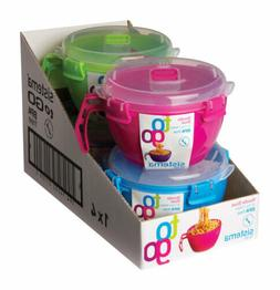 Sistema Klip It Microwave Noodle Bowl To Go Assorted Colors