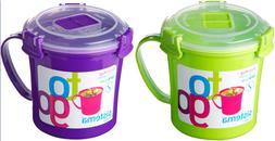 Sistema Klip It Microwave Soup Mug Togo Assorted Colors Sing