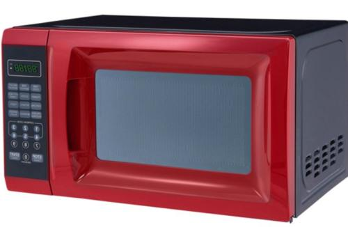 0.7 Ft. Red Microwave 10 Power Levels, Kitchen