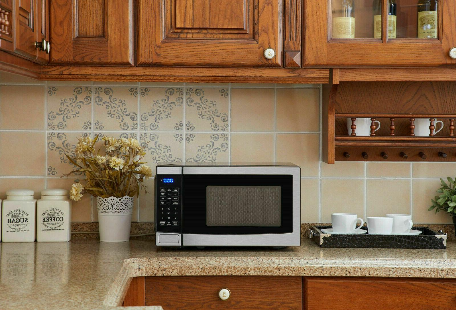 Mainstays Cu. Ft. 700W Stainless with 10 Power
