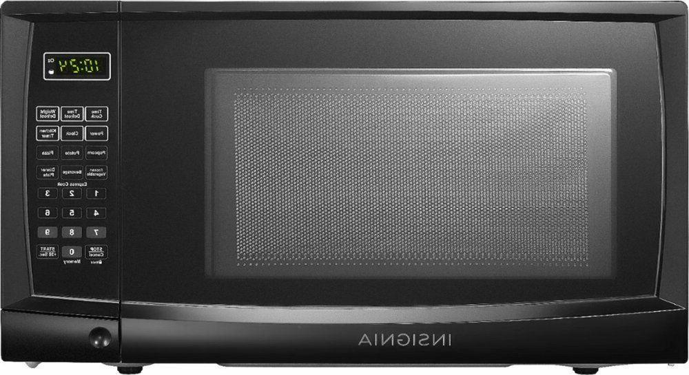 Insignia - 0.7 Cu. Ft. Compact Microwave - Black