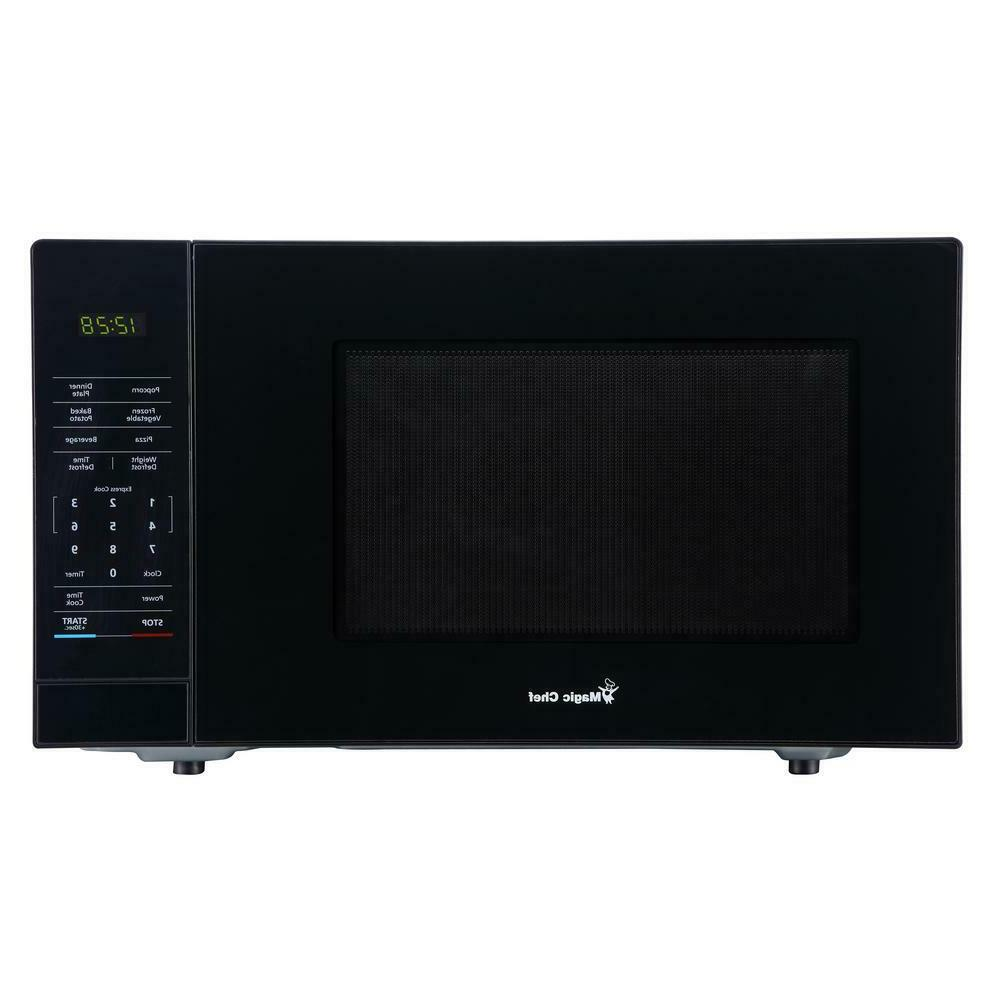 1.1 cu. ft. Countertop Microwave in Black with Gray Cavity 1