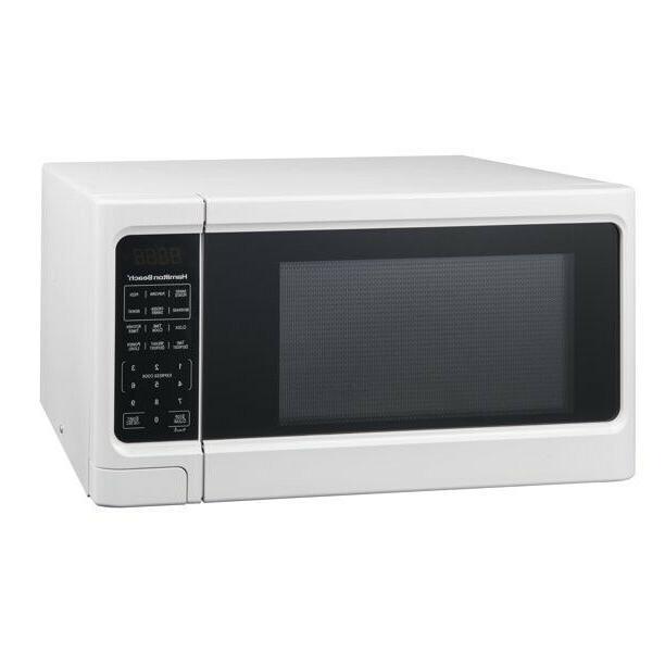 1 1 cu ft digital white microwave