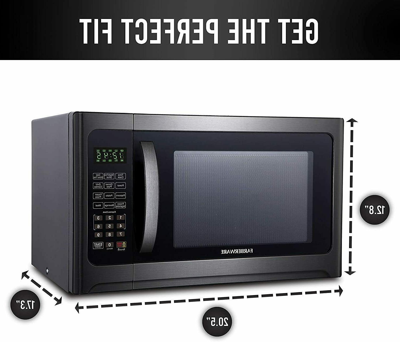Farberware 1.2 Cu. Ft. 1100-Watt Microwave Oven Grill, Cubic