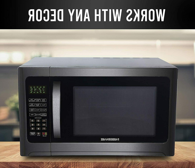 Farberware 1.2 Cu. 1100-Watt Microwave Grill, Cubic