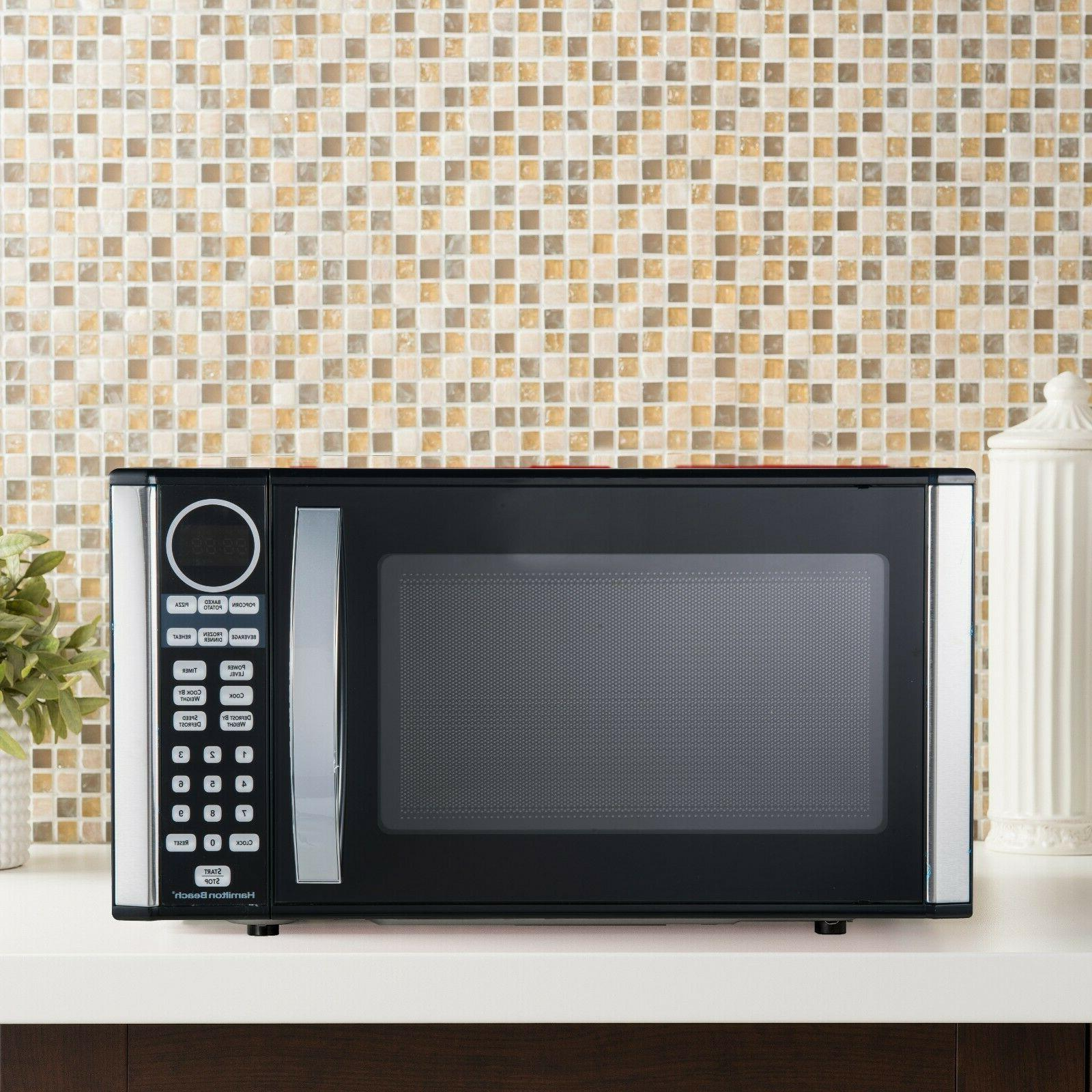 Hamilton Beach 1.3-cu. ft Microwave Oven Stainless Display