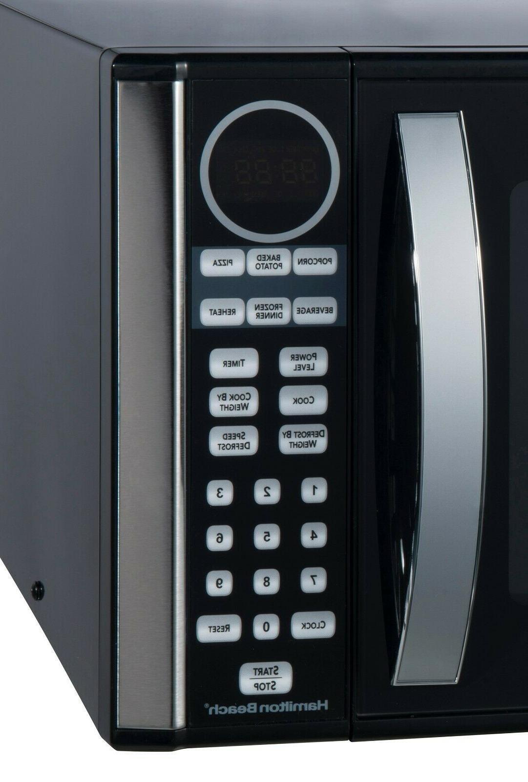 Hamilton Beach Microwave Oven Black 1000W Stainless LED