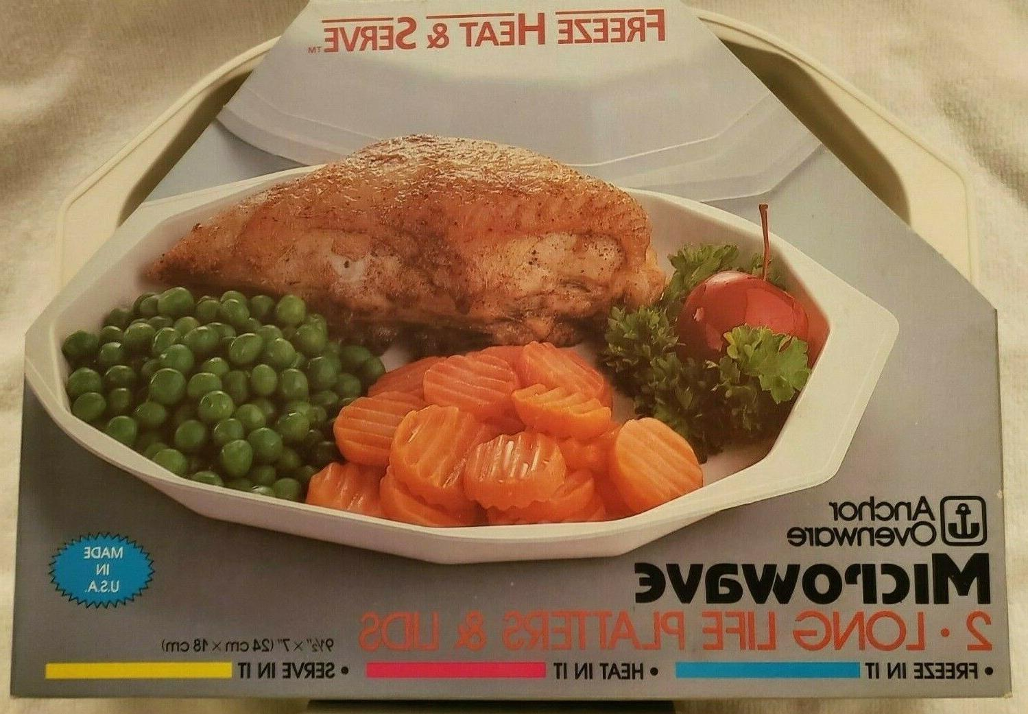 2 Serve Platters with New