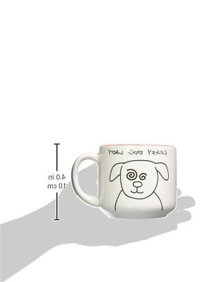 Pavilion Gift 37137 Blobby Ceramic Coffee Mug, Red