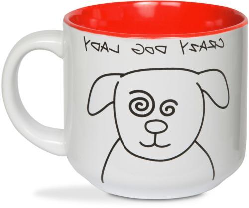 37137 blobby dog crazy dog lady ceramic