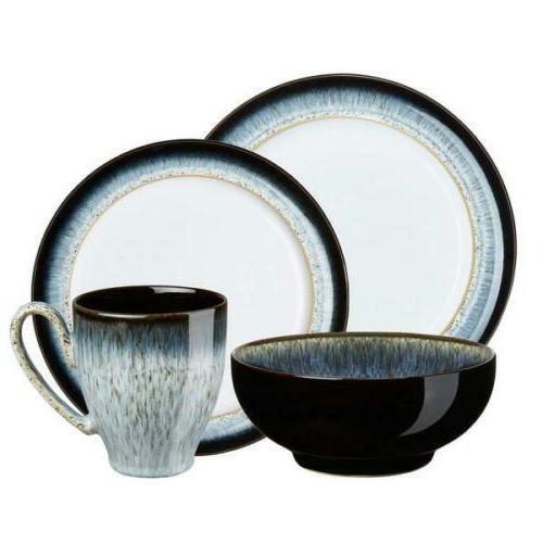 4 piece dinnerware set glazed ceramic microwave
