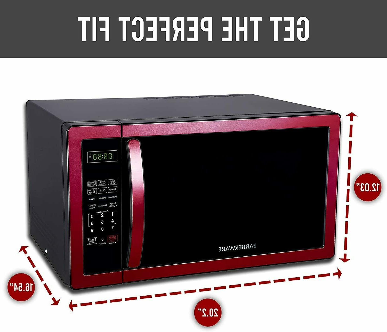 Farberware Classic Foot 1000-Watt Microwave Red