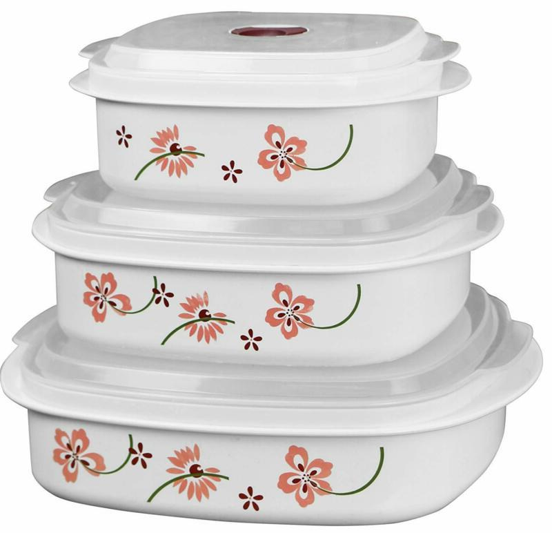 Corelle Coordinates 6-Piece Microwave Cookware, Steamer And