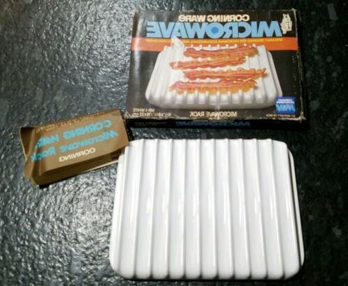corning ware microwave rack mr 1 bacon