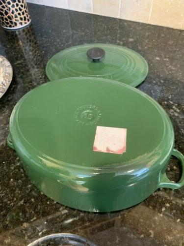 Exc #25 Oval Dutch Oven Pot 3.5 Green Cast Made