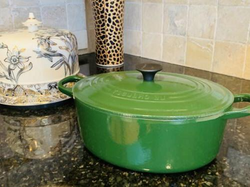 Exc #25 Oven Pot W/Lid Green France
