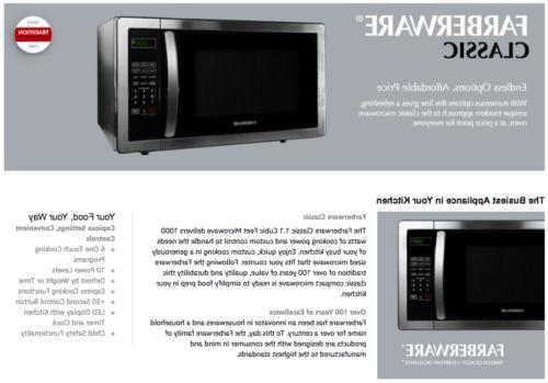 Farberware Microwave 1.1 - Black/Stainless