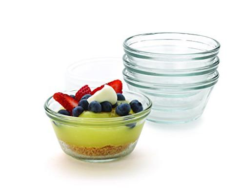 Anchor Hocking Glass Cup with Lid, Set