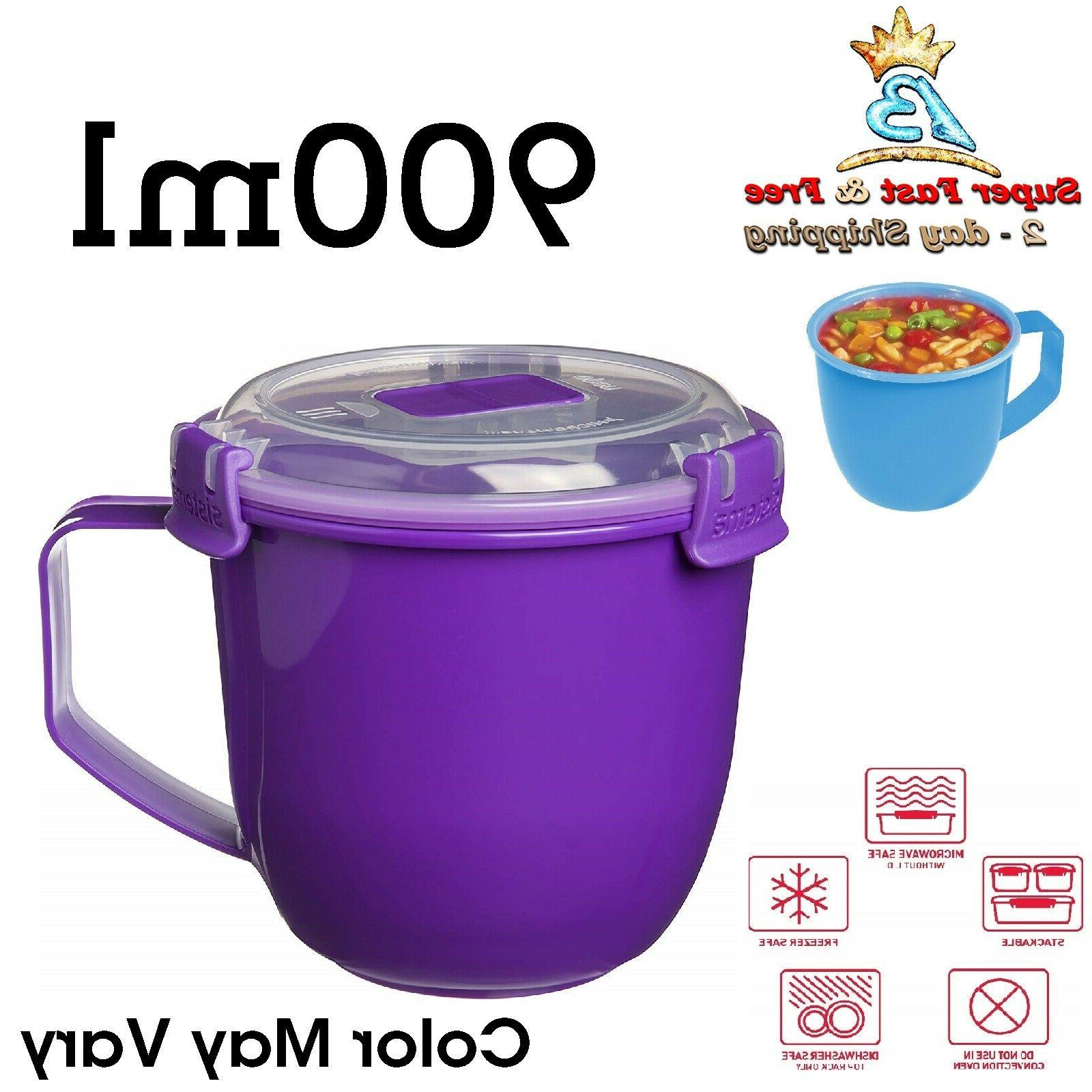Large Soup Mug Microwave Noodle Bowl 30 Oz Stackable Kitchen