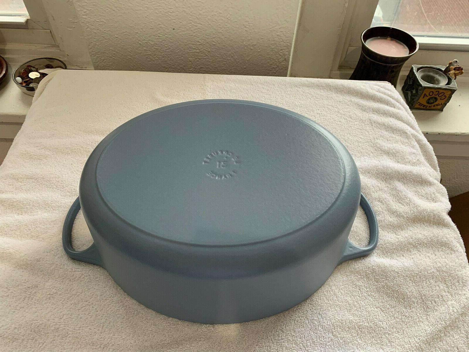 Le Creuset New 6.75 quart Casserole Dutch Mineral Blue