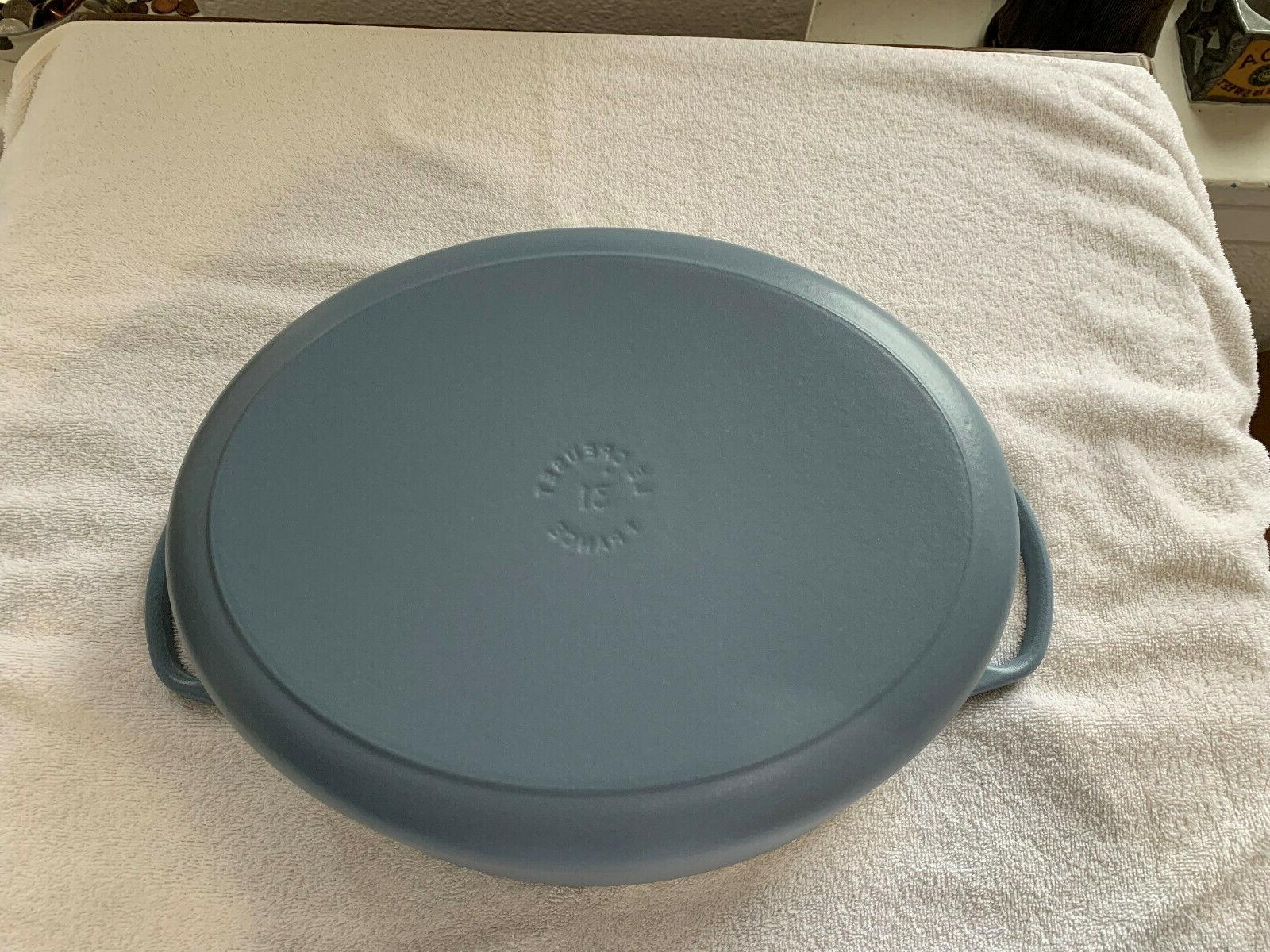 Le Creuset 6.75 quart Signature Casserole Dutch Oven Matte Blue