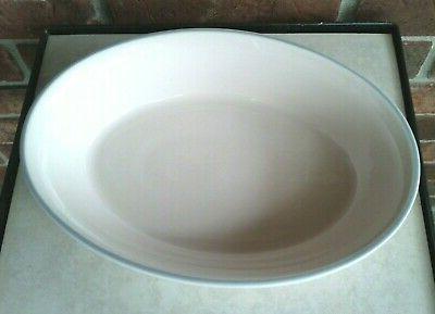 "Pfaltzgraff Stoneware Aura Pink 10"" Oval Baking Serving Dish Oven"
