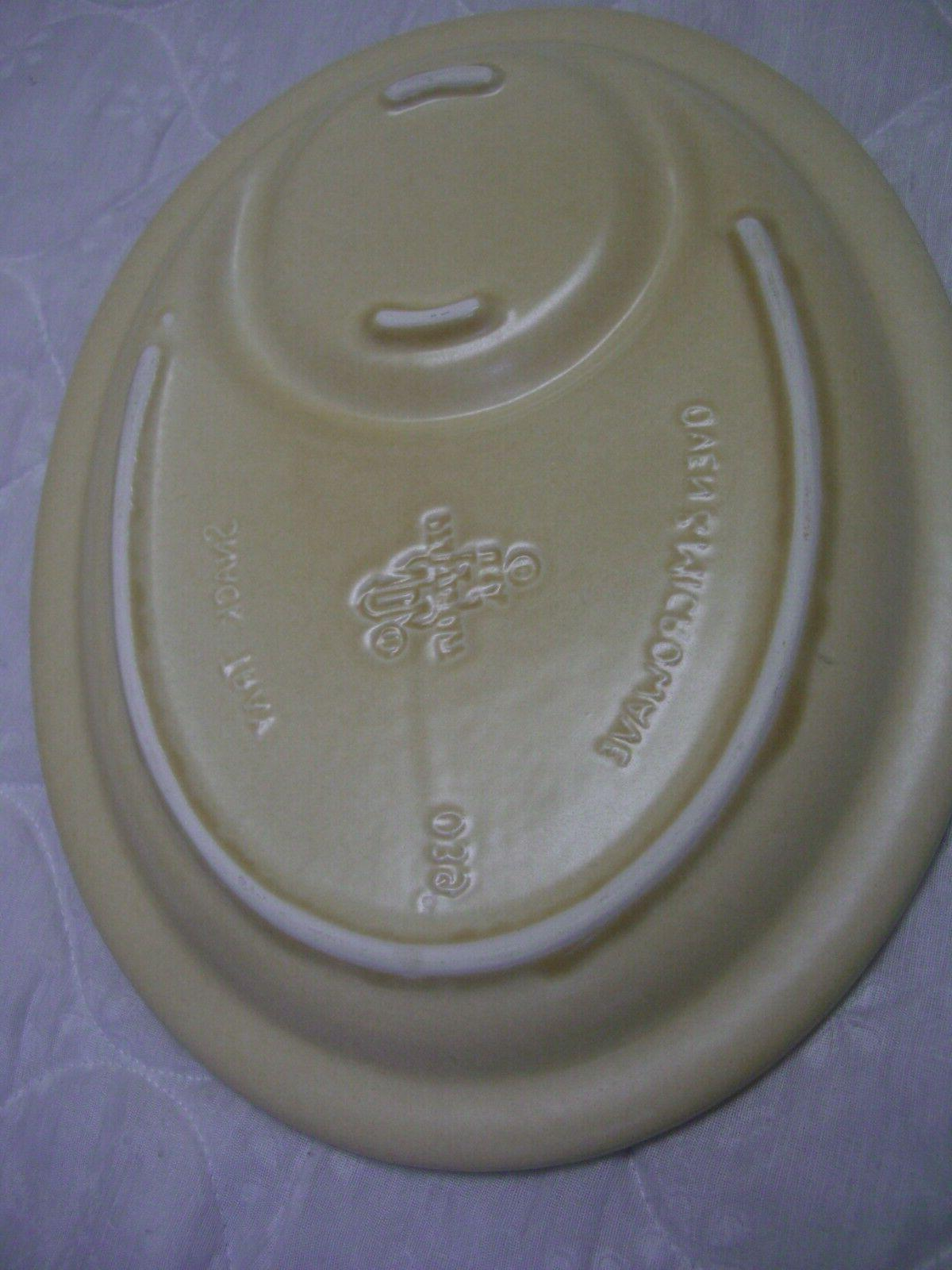Pfaltzgraff Village 12 Oval Snack Tray/Oven Microwave # 039
